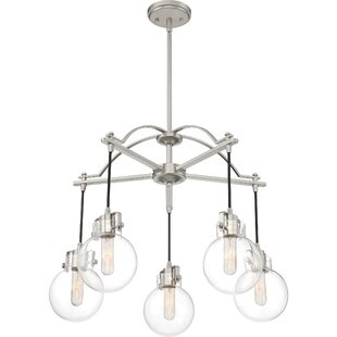 Andover Mills Lebron 5-Light Shaded Chandelier
