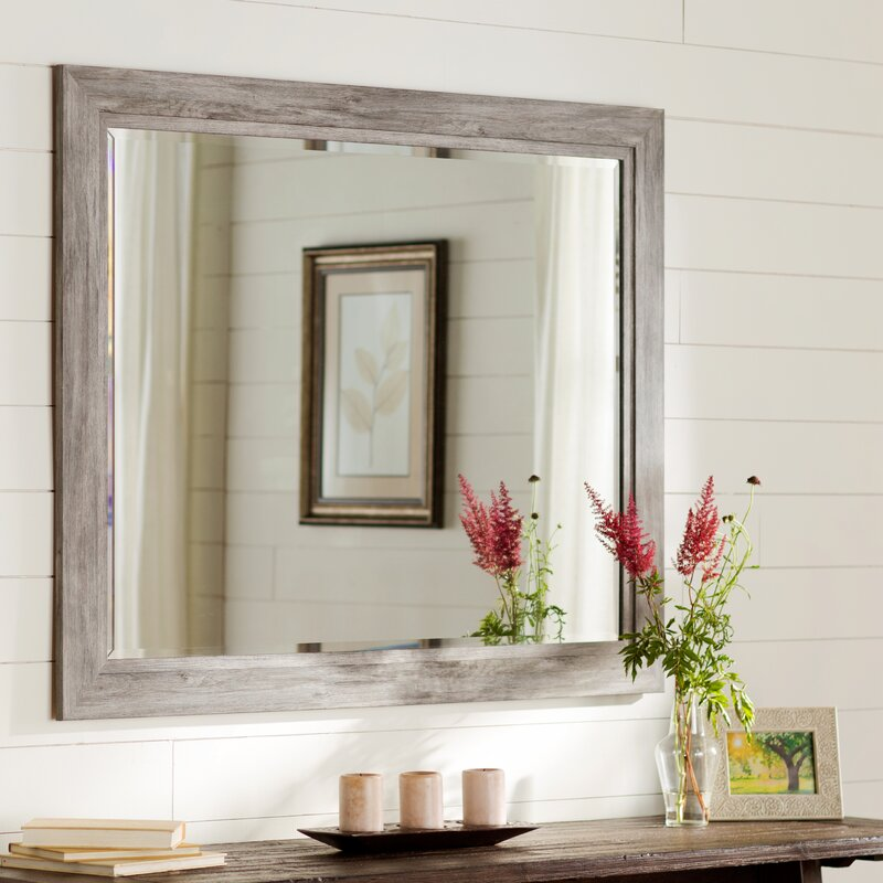 August Grove Coastal Weathered Gray Wall Mirror Reviews Wayfair