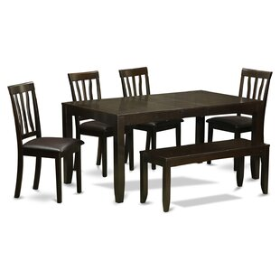 Lockmoor 6 Piece Extendable Solid Wood Dining Set Red Barrel Studio