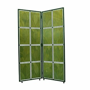 Eangee Home Design Cocoa Leaf 2 Panel Room Divider