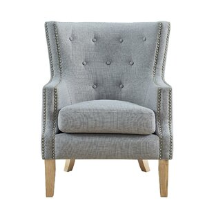 Top Reviews Holstein Wingback Chair By Alcott Hill