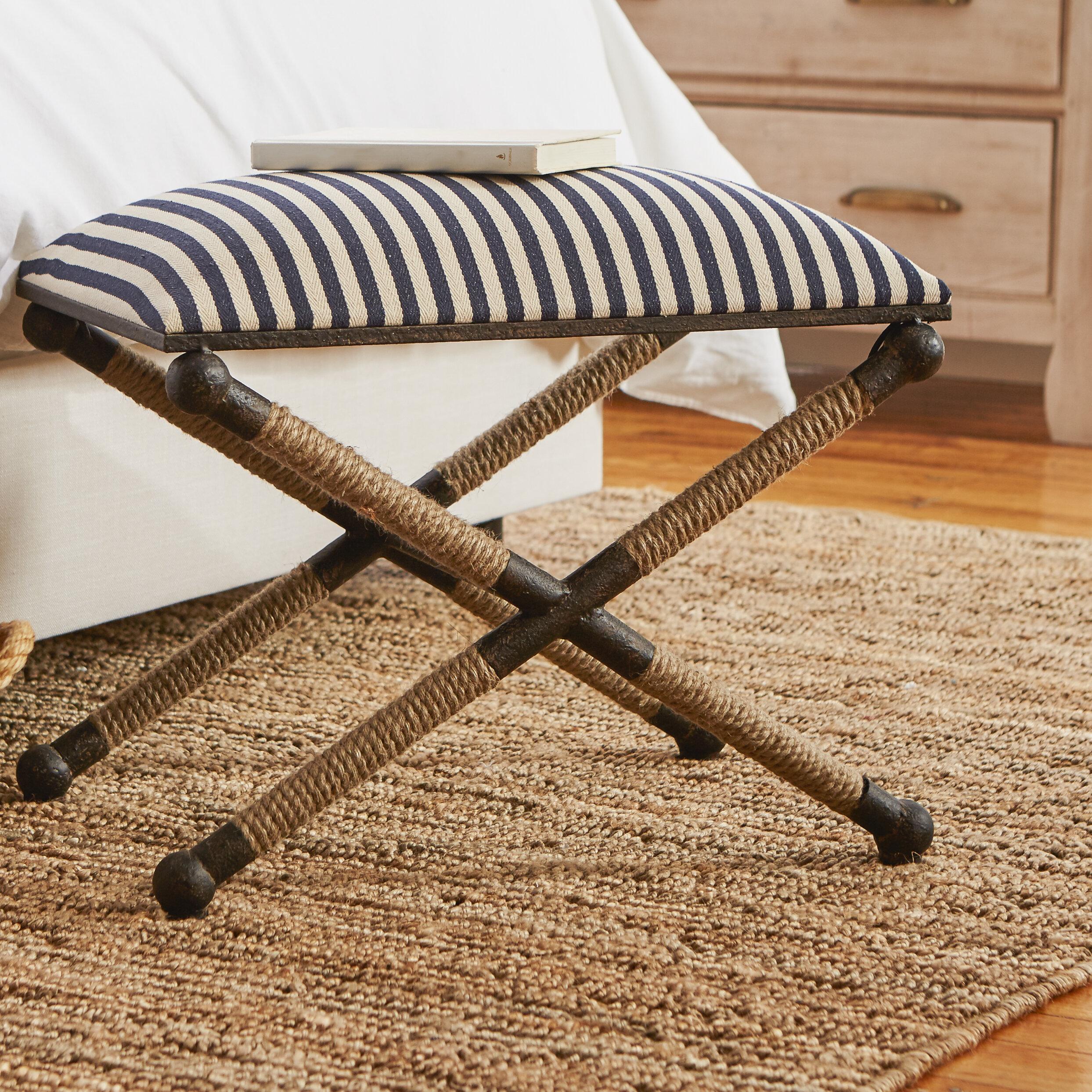 Beachcrest Home Brunon Upholstered Vanity Stool U0026 Reviews | Wayfair