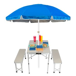 Folding Metal Camping Table by Trademark Innovations Great price