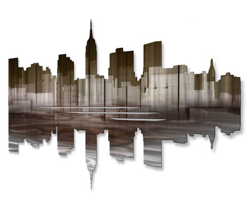 All My Walls New York City Reflection Iii Wall Dcor Reviews Wayfair