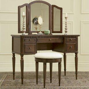Astoria Grand Behrendt Vanity Set with Mirror