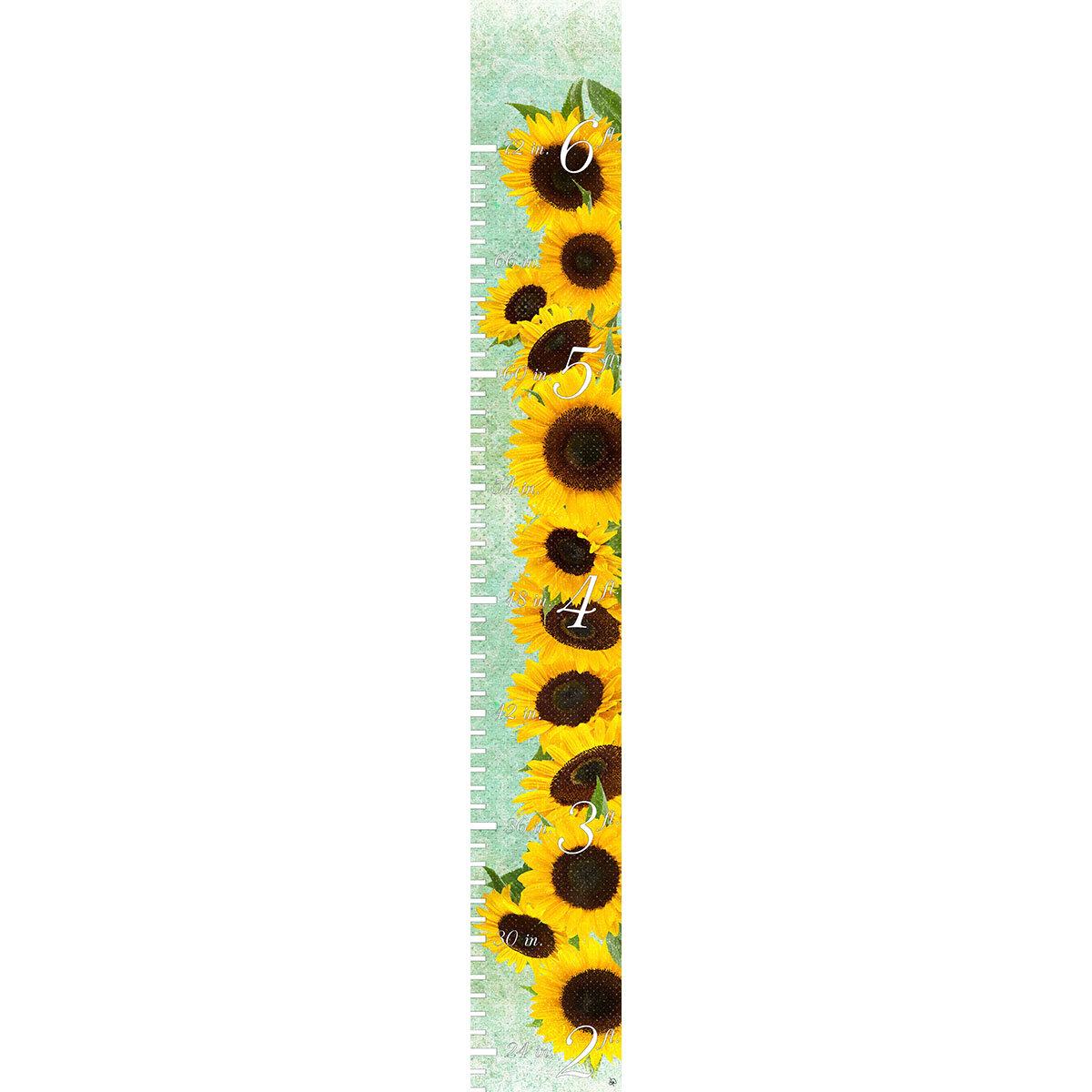 Harriet Bee Ines Sunflowers Personalized Growth Chart Wayfair