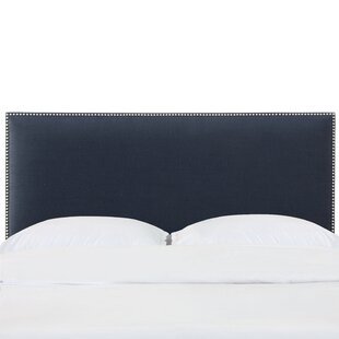Read Reviews Gillian Nail Button Border California King Upholstered Panel Headboard by Longshore Tides