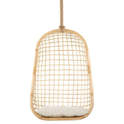 Gaige Grid Rattan Swing Chair by Bungalow Rose Looking for