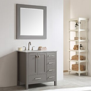 Reviews Newtown 36 Single Vanity Set with Mirror By Beachcrest Home