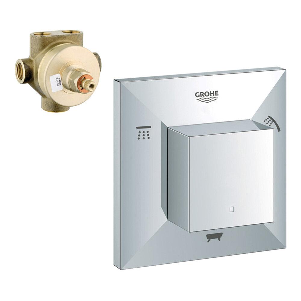 Grohe Allure K19799 29035r 000 Tub Shower 5 Port Diverter Trim Kit In Chrome Wayfair