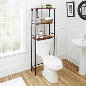 bathroom shelf over toilet. Warren Mixed Material 3 Tier 24  W x 66 H Over the Toilet Storage Cabinets Wayfair