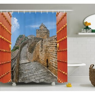 China Asian Silk Road Tower Single Shower Curtain