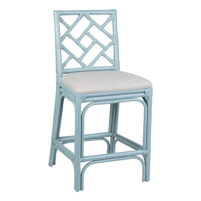 Astounding Rosecliff Heights Michaels Rattan 24 Bar Stool Color Sky Blue Bralicious Painted Fabric Chair Ideas Braliciousco