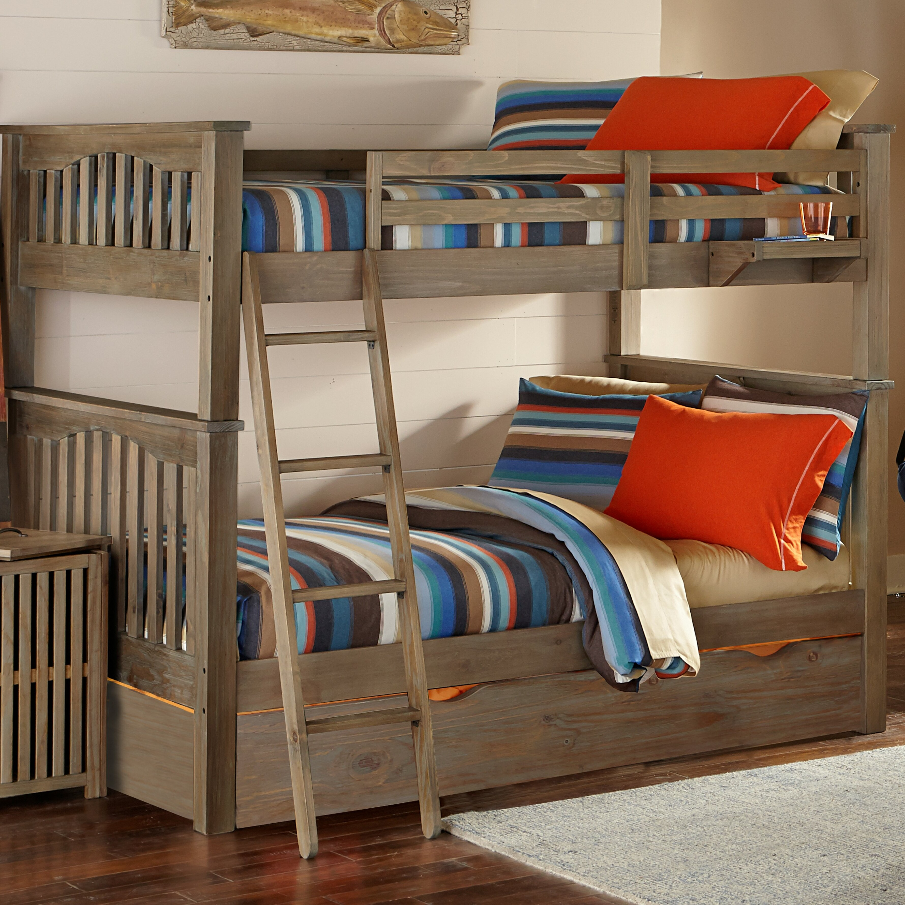 Greyleigh Timberville Twin Bunk Bed With Trundle Reviews Wayfair
