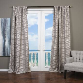 East Urban Home Susana Paz By Night Floral Blackout Rod Pocket Single Curtain Panel Wayfair
