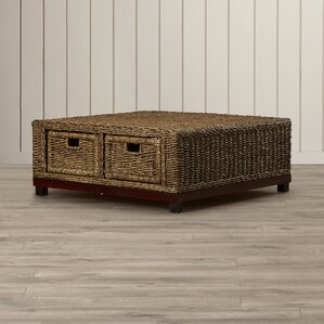 Hallandale Woven Coffee Table by Rosecliff Heights