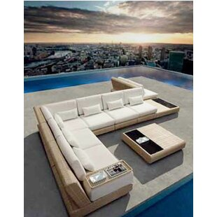 Sumba Sectional Single Armless Chair with Cushions by 100 Essentials