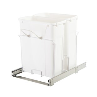 Knape&Vogt Plastic 5 Gallon Pull Out/Under Counter Trash Can