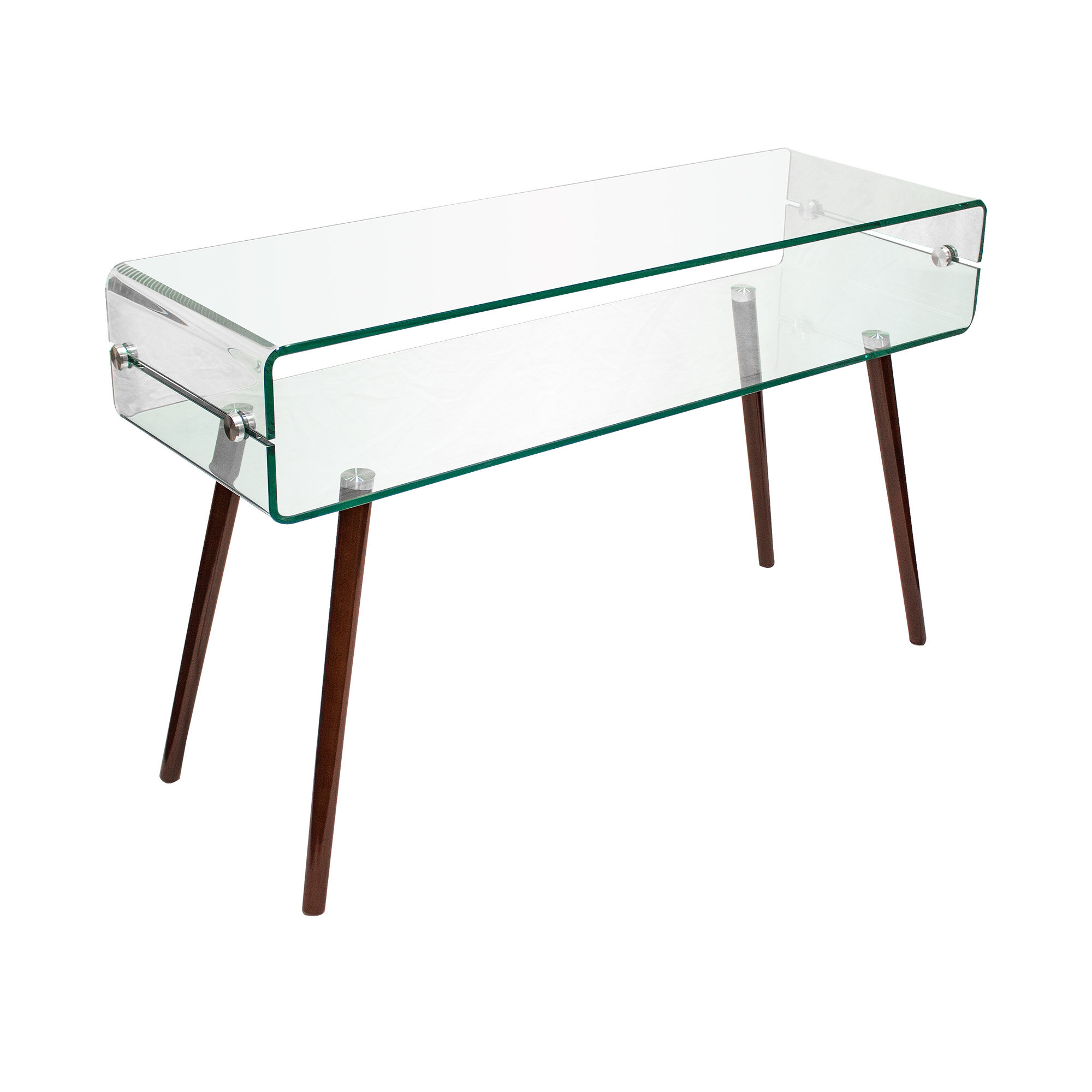 Corrigan Studio Wolters Glass Console Table Reviews Wayfair