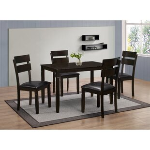 Winnetka 5 Piece Dining Set Red Barrel Studio