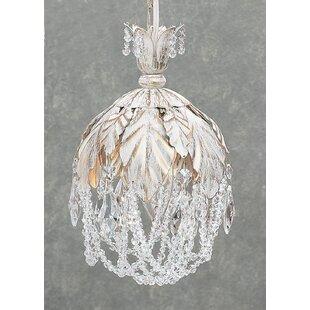 Petite Fleur 1-Light Crystal Pendant by Classic Lighting
