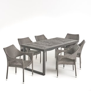 Parnassus Outdoor 7 Piece Dining Set