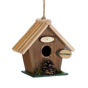 Zingz & Thingz Pine Cone Rustic Wood 7 in x 8 in x 4 in Birdhouse