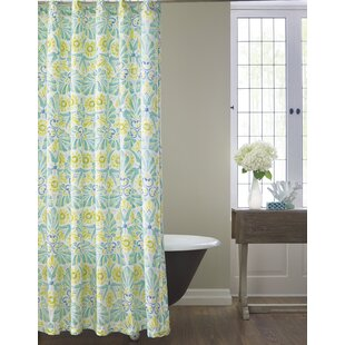 Painted Medallions Cotton Shower Curtain