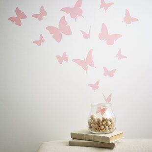 Butterflies Wall Decal (Set of 18) & Butterfly Wall Decals | Wayfair