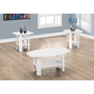 White Washed Coffee Table Set | Wayfair