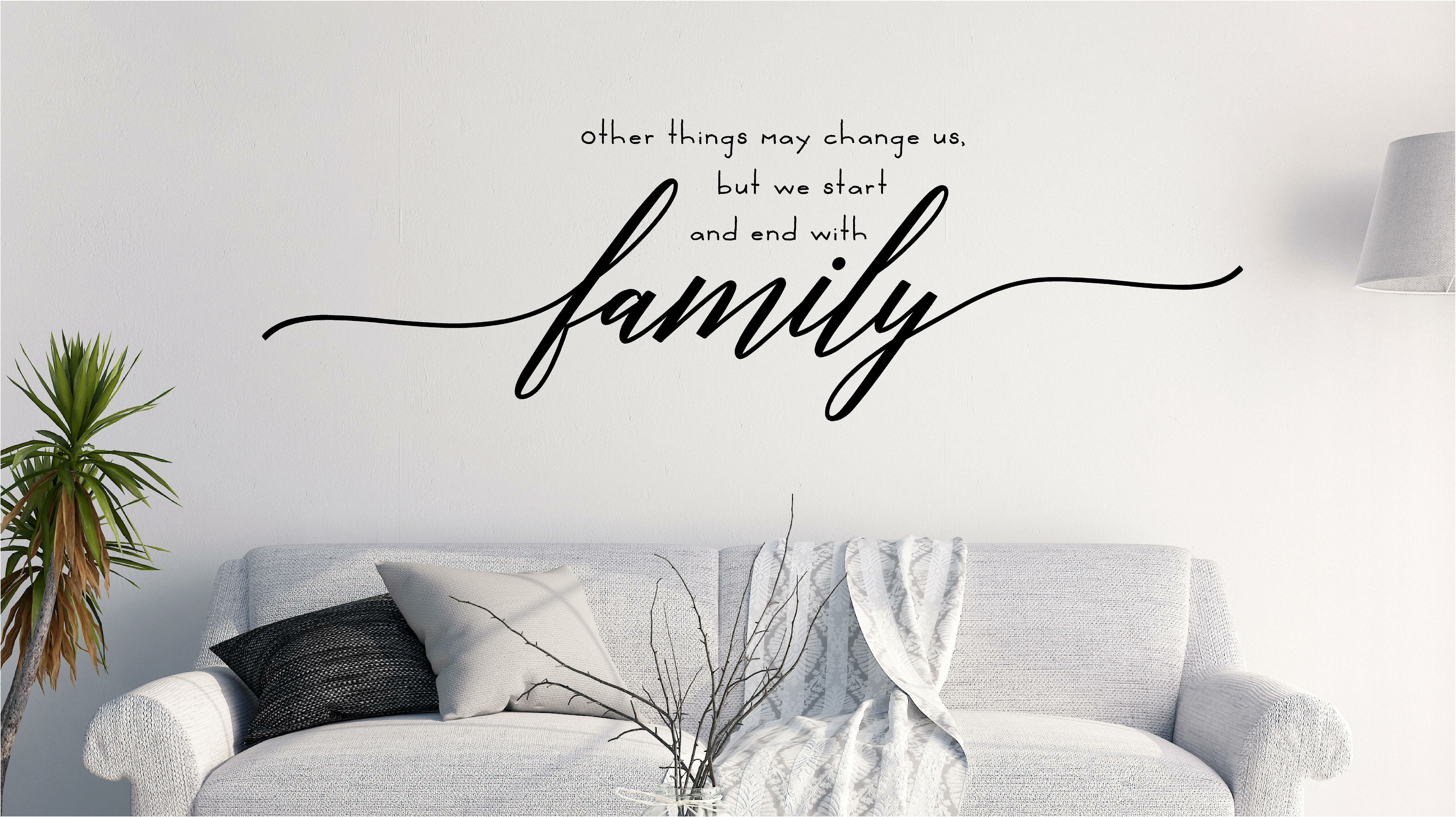 Outstanding Start And End With Family Wall Decal Beatyapartments Chair Design Images Beatyapartmentscom