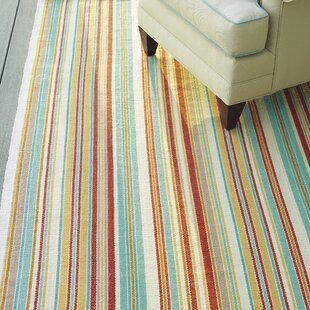 Just Beachy Red/Blue Area Rug
