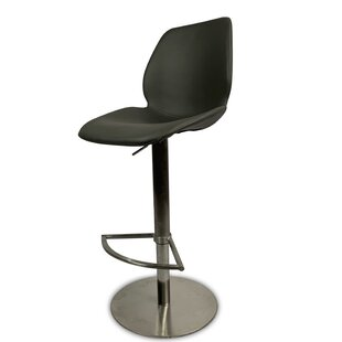 Zlatkus Kelsey Adjustable Height Swivel Bar Stool by Latitude Run