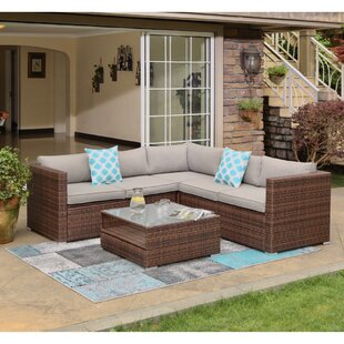 4 Piece Wicker Furniture Set | Wayfair