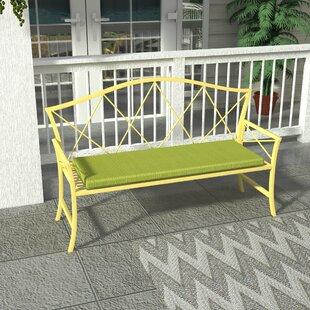 Wrought Studio Merrill Steel Garden Bench