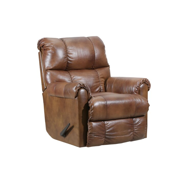 Crisscross Leather Recliner