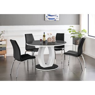 Read Reviews Sahika Dining Set With 4 Chairs