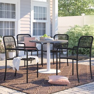 Brighton Stacking Patio Dining Chair (Set Of 4) by Sol 72 Outdoor New