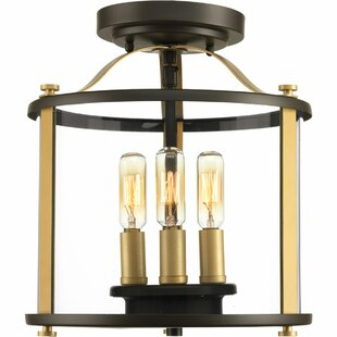Evgenia 3-Light Semi Flush Mount by 17 Stories