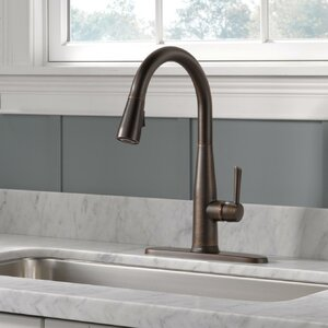 Delta Essa Pull Down Touch Single Handle Kitchen Faucet with MagnaTite®  Docking and Touch2O® Technology