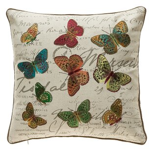 Kircher Colorful Butterflies Throw Pillow