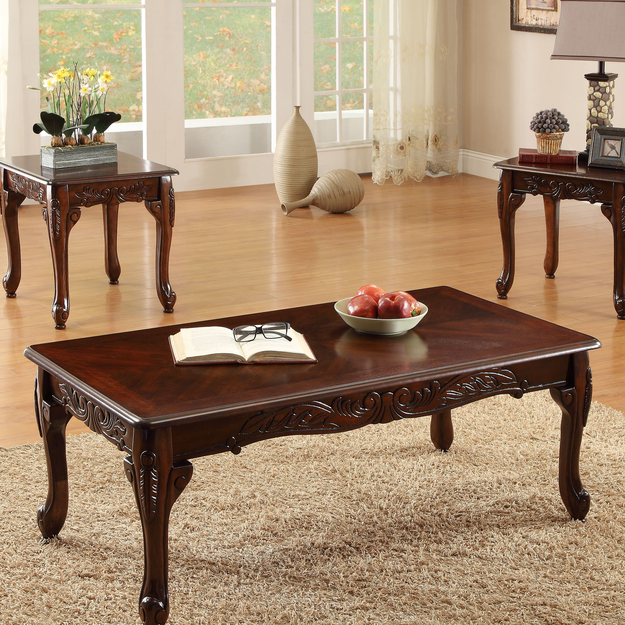 Harrietta 3 Piece Coffee Table Set