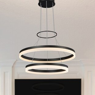 Marcelo Dup 2-Light LED Chandelier by Wade Logan