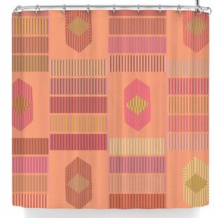No Shades of Coral Single Shower Curtain