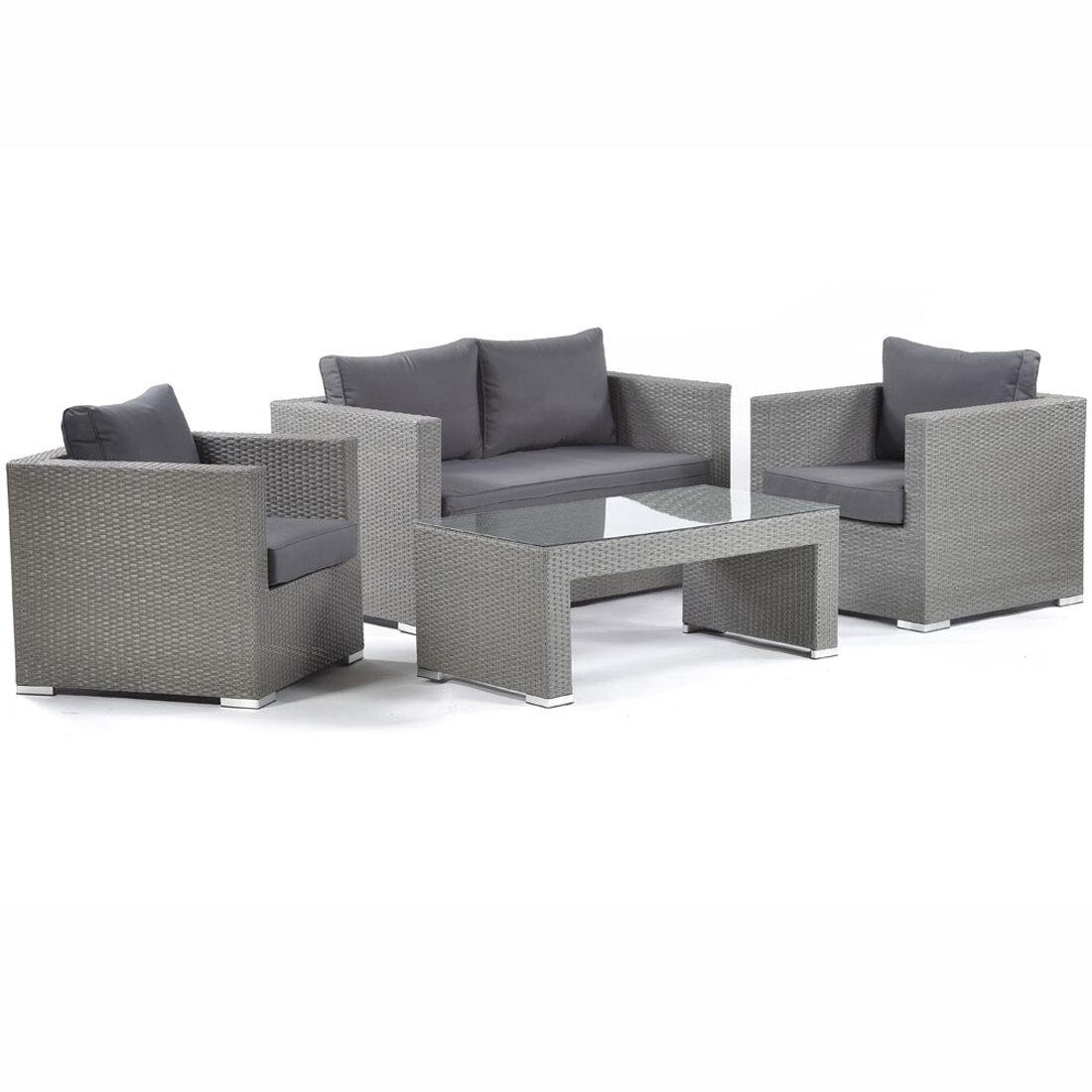 Picture of: Sol 72 Outdoor Ashong 4 Seater Rattan Sofa Set Wayfair Co Uk