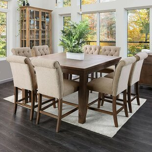 Huey Counter Height Dining Table Canora Grey