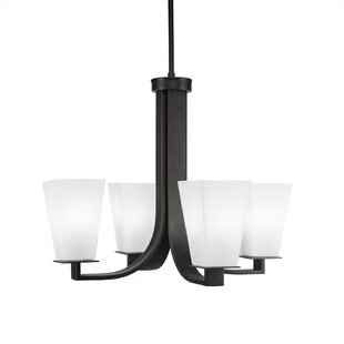 Winston Porter Weatherly 4-Light Shaded Chandelier