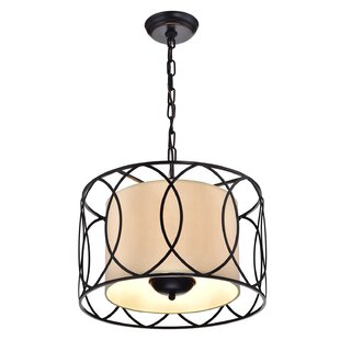Winston Porter Franck Wrought Iron 3-Light Pendant