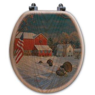 WGI-GALLERY The Good Old Barn Oak Round Toilet Seat