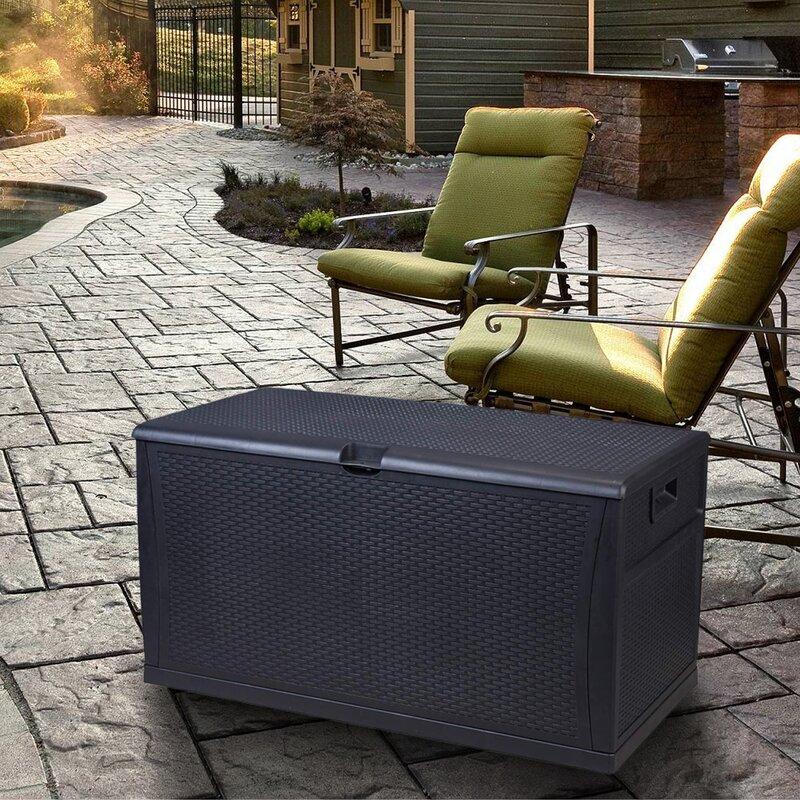 Zenova Patio 120 Gallon Plasic Deck Box